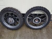 Triumph Chrome wire wheels two sets of tyres