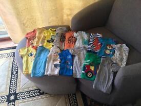 Boy tshirt bundle 9-12 months