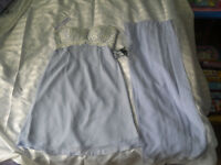 """New with tag Lilac short ladies bridesmaids dress size 36""""-38"""" Chest with sequence and lace top"""