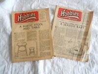 Vintage Magazines .. Hobbies Weekly, 2 x issues ..July 6th and 13th 1949 priced at threepence each.