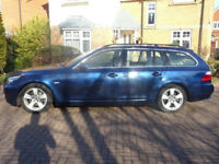 BMW 5 SERIES 2.0 520D SE TOURING 5d AUTO 175 BHP Leather Trim + (blue) 2008
