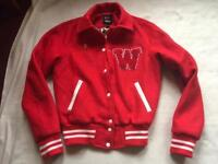 Wah London and ASOS Red Varsity Jacket Size 6 brand new £10