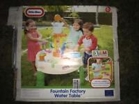 Little Tikes fountain favtory water table