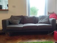 IKEA NORSBORG Three-seat Sofa, Finnsta, Dark Grey,