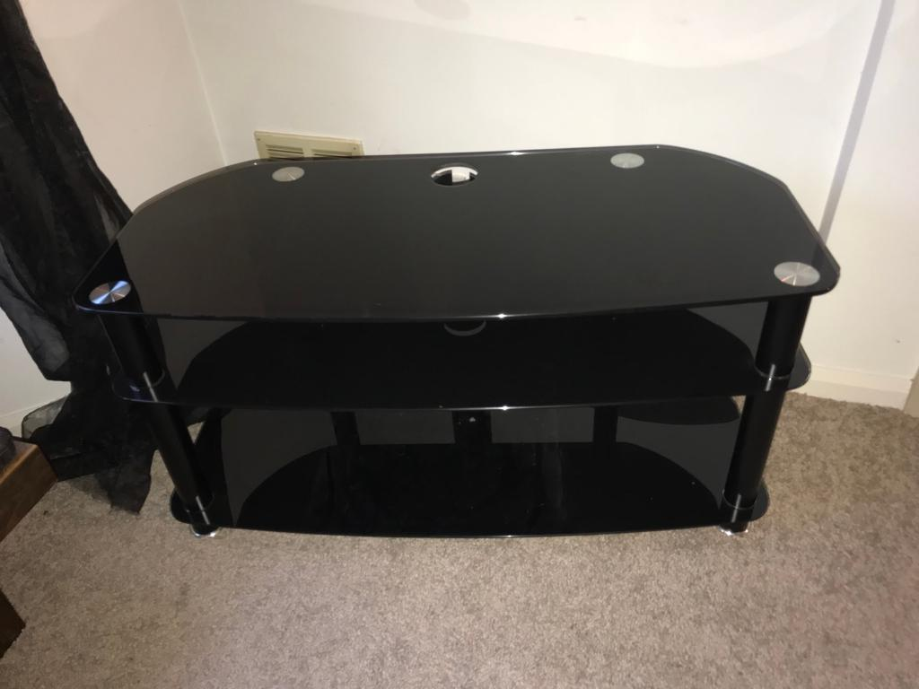Black Gl Tv Stand Large Quality Build