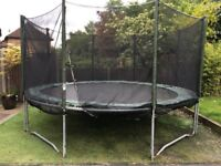 13 foot trampoline with safety net and pad to cover springs