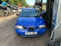 2003 Seat Ibiza 3dr 1.2 Petrol Blue BREAKING FOR SPARES