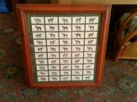 Framed Players Cigarette Cards Of Derby And Grand National Winners - all 50
