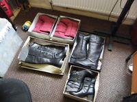 14 pair m+s seconds boots hush puppies carvela various sizes