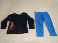 LUXURY 100% NEW ZEALAND WOOL THERMAL TOP AND PANTS - AGE 1