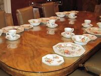 """30 piece DINNER SERVICE by JOHNSON BROTHERS """"Fresh Fruits"""" (also 3 Canisters)"""