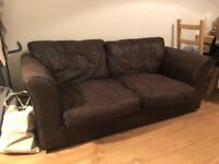 FREE TO COLLECT! Brown sofa!