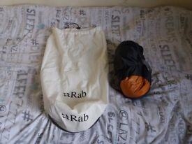 Rab ascent 300 sleeping bag only used 3 times