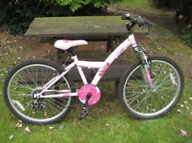 Excellent condition Apollo Kinx 8 to 12 year old girls front suspension mountain bike