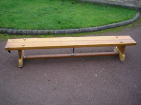 School bench pine wood colour.