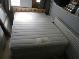 Double bed Divan with memory foam mattress and headboard - hardly used. very clean.