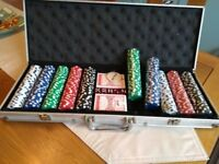 LARGE POKER SET