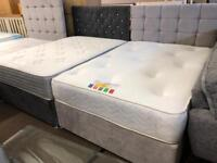 New**Stunning Double divan sets complete ONLY £330 delivery available