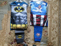 BOYS BRAND NEW PYJAMAS 7-8 ONE IS BATMAN THE OTHER IS MARVEL AVENGERS