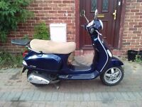 2007 Vespa LX 125 automatic scooter, new 1 year MOT, good runner, good condition, ready to ride away
