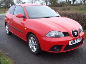 07 Seat Ibiza Reference 1.2 full mot low miles MINT