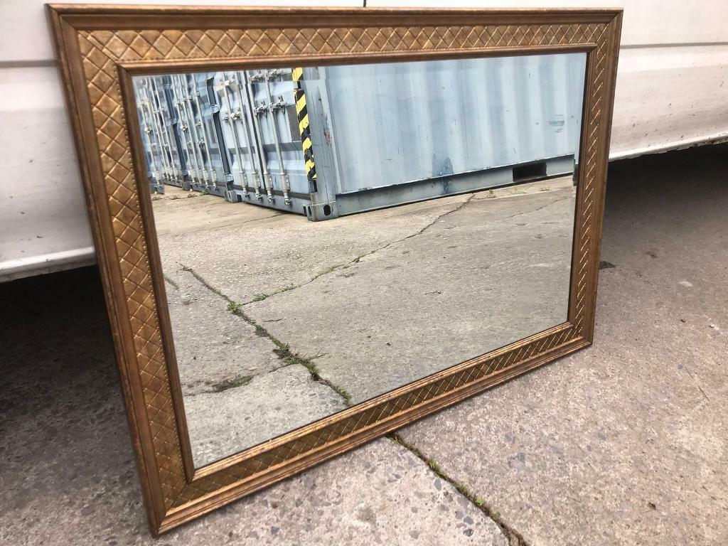 Beautiful large gold framed mirror FREE DELIVERY PLYMOUTH AREA
