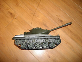 Remote Controlled battery operated Walker Bulldog Light Tank with accessories fully working.