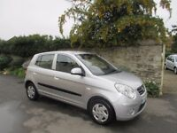 KIA PICANTO 1.0L 5 DOOR HATCH 2009 ONLY 49K MILES LONG MOT £30 A YEAR ROAD TAX.
