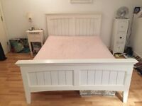 White good condition double bed frame from Dreams