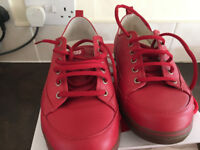 Size 7 fitflop trainers - red leather