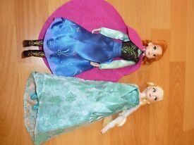 Disney Store Frozen - Elsa and Anna dolls