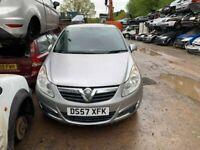 BREAKING Vauxhall Corsa Club A/C 1.2 Silver door wing window glass front rear offside nearside