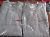 """XL Brand new """"Borax"""" Grey Sweatshirts. £4 each or the two for £7"""
