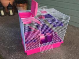 Hamster cage with external run
