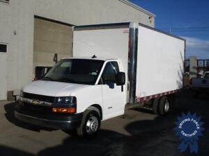 2016 Chevrolet Express 4500 - 16' Van Body - Cargo to Cab Door