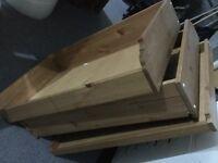 IKEA Komplement drawers for wardrobe x 3 plus shelves - walnut effect