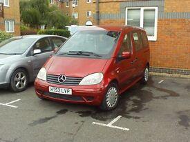 Mercedes VANEO 7 seater petrol 1.9 manual long MOT 74k miles not Zafira Espace Scenic