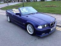 1999 T REG BMW 328i INDIVIDUAL AUTO E36 CONVERTIBLE RARE VELVET BLUE ALPINA 323I 325I M3 E46 E39 E30