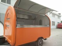 Mobile Catering Trailer Burger Van Pizza Trailer Hot Dog Ice Cream Food Cart 3000x2000x2300