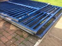 Industrial steel gate plus fencing