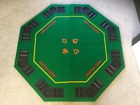 Folding Poker Table Top. Brand New. Great Xmas present.