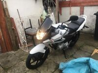 125cc white motorbike for sale - excellent condition