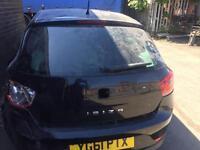 Seat Ibiza 6j 2008 2015 tailgate black tinted glass boot lid