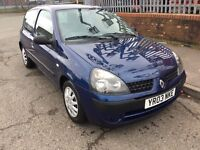 2003 RENAULT CLIO 1.5 DCI AUTHENTIQUE 65 £30 TAX LONG MOT