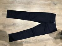 Girls next Jeans Navy with stitch detail on the knee age 12yrs worn once