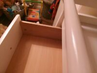 3 Drawer Baby Changing Unit, White for sale.
