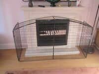 Domed Metal Fire Guard - In excellent, clean condition.