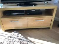 Oak Effect Tv Unit with Drawers - £25.