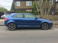 2004 04.REG AUDI A3 2.0 TDI SPORT S/LINE D.S.G AUTO PADDLE SHIFT 3 DR IN BLUE