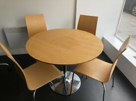 Round Dining Table & 4 Matching Chairs